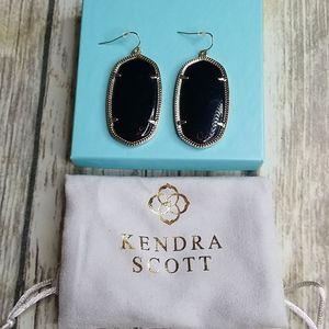KENDRA SCOTT BLACK & GOLD EARRINGS